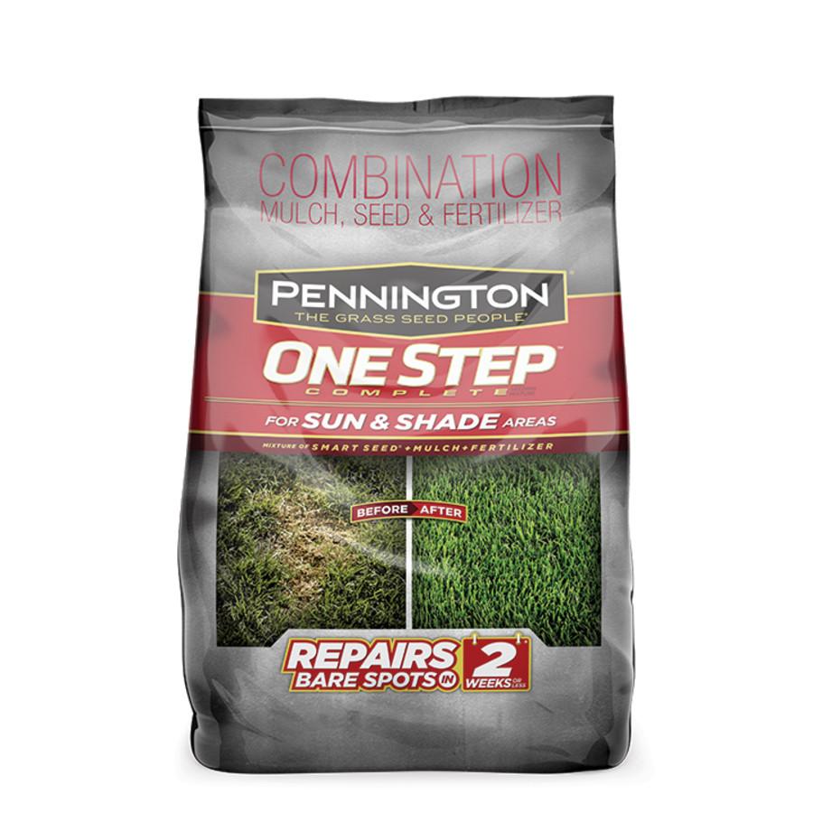 Pennington One Step Complete Sun & Shade Mulch Grass Seed & Fertilizer 6ea/8.3 lb