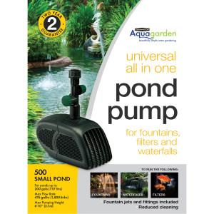 Pennington Aquagarden Universal All-in-One Pond Pump GPH 2ea/500 GPH