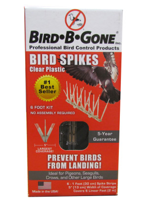 Bird-B-Gone Plastic Bird Spikes Clear 6ea/6 ft