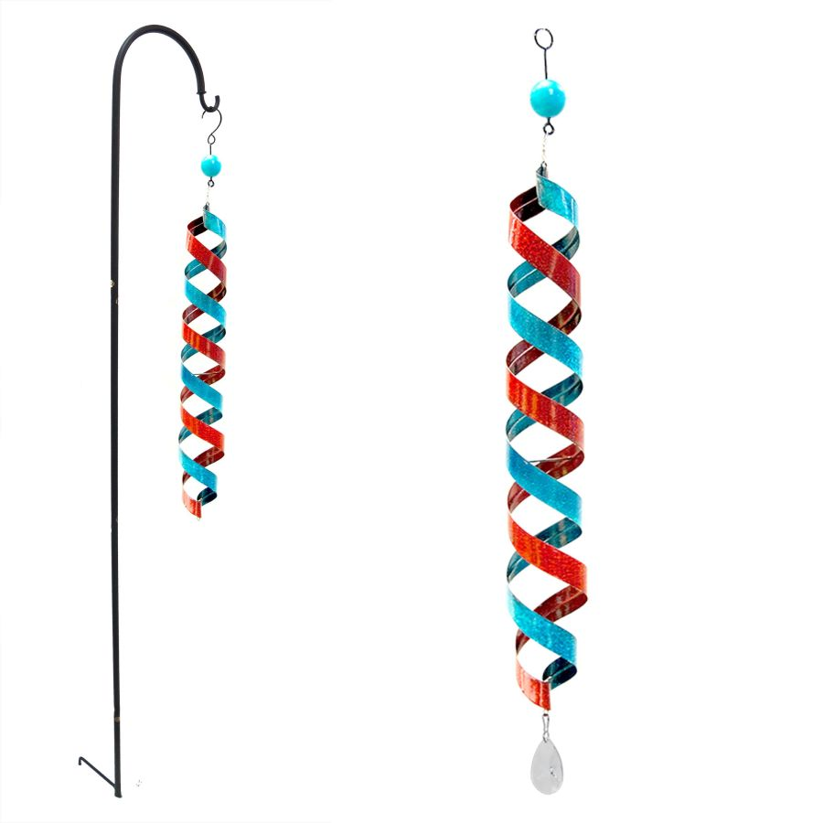 Alpine & Wind Spinner Metal Hanging Red Blue 4ea