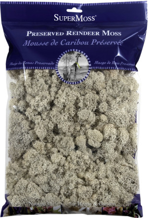 Supermoss Reindeer Moss Preserved Moss Natural 10ea/8 oz
