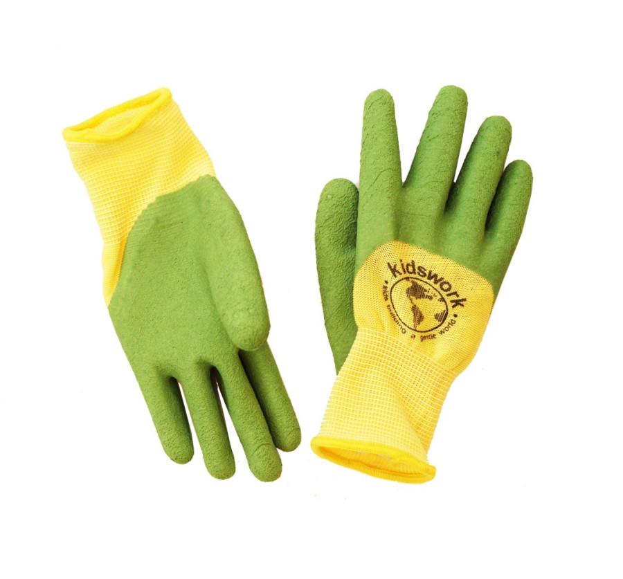 Womanswork Kidswork Latex Glove Yellow, Green 12ea/One Size