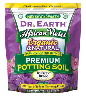 Dr. Earth African Violet Potting Soil 4ea/8 qt