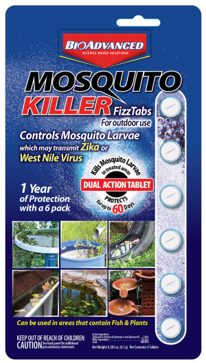 BioAdvanced Mosquito Killer Fizz Tabs 12ea/0.285 fl oz