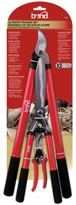 Bond Ultimate Pruning Set (Bypass Lopper Hedge Shear Bypass Pruner) 6ea