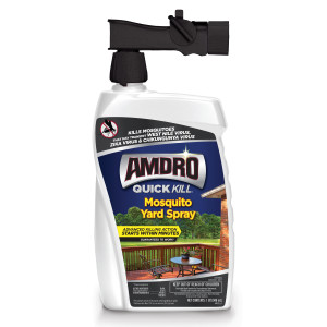 Amdro Quick Kill Mosquito Yard Treatment Ready To Spray 4ea/32 oz