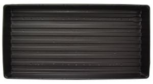Jiffy Plant Tray Plastic Black 50ea/11Inx22 in