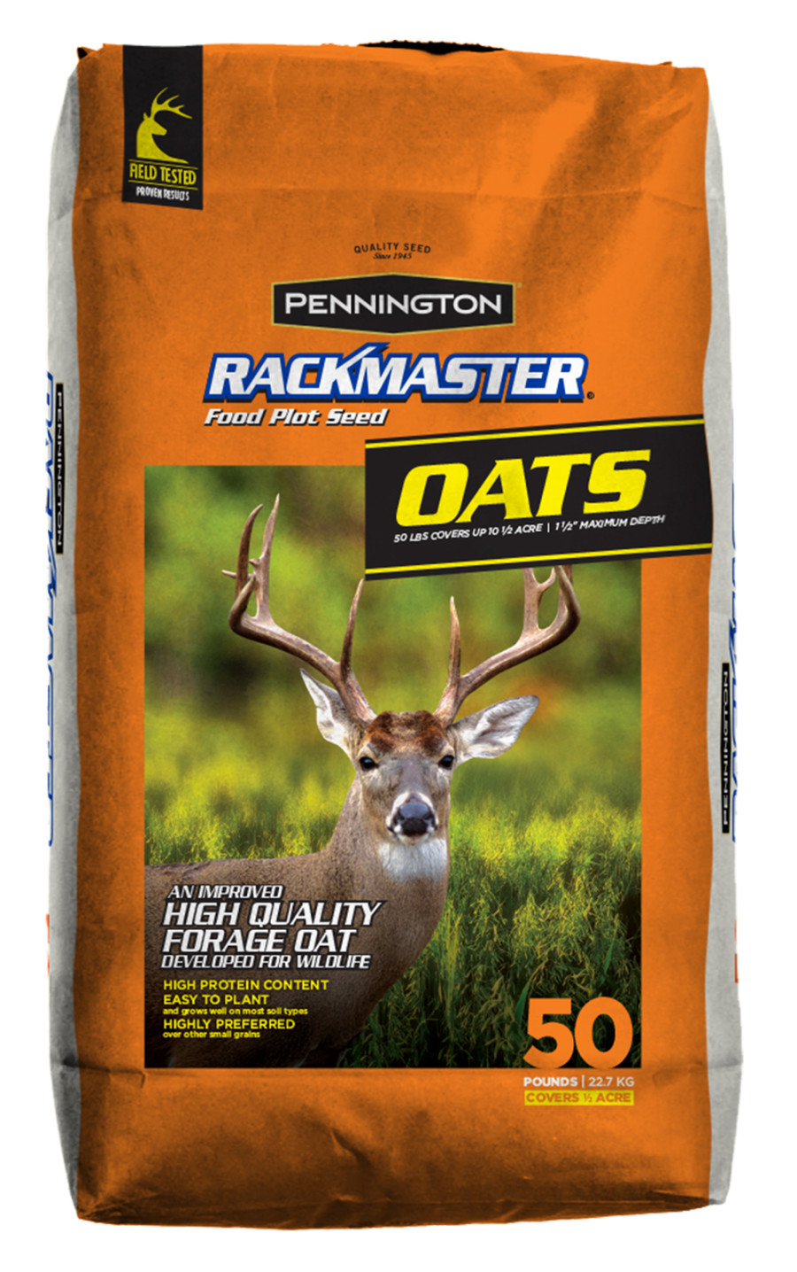 Pennington Rackmaster Food Plot Seed Oats 1ea/50 lb
