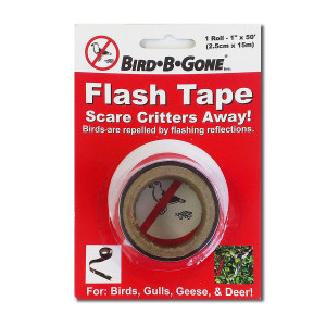 Bird-B-Gone Flash Tape Scare Birds Gulls Geese & Deer Mylar 12ea/1Inx50 ft