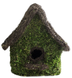 Supermoss Maison Woven Birdhouse Fresh Green 6ea/9.5Inx10.5 in