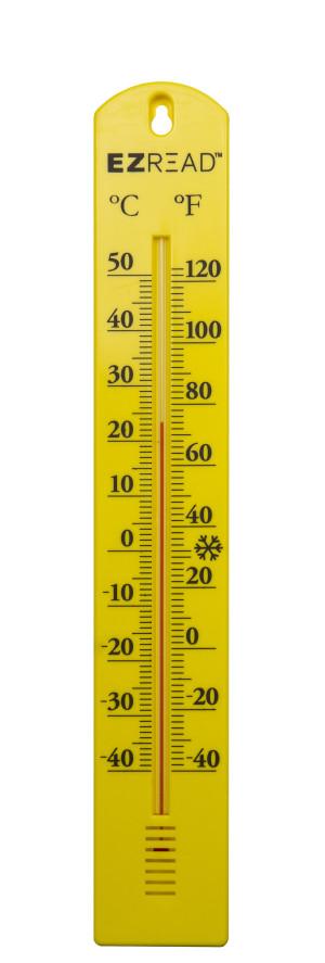 E-Z Read Thermometer Yellow 10ea/15.5 in