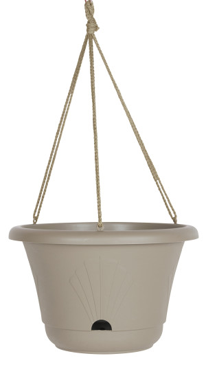 Bloem Lucca Hanging Basket Planter Pebble Stone 10ea/13 in