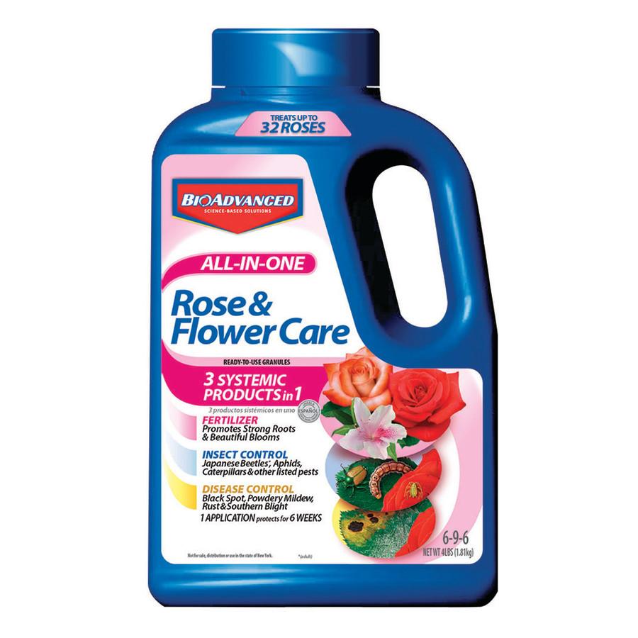 BioAdvanced All-In-One Rose & Flower Care Granules 6-9-6 Imidacloprid Display 36ea/4 lb