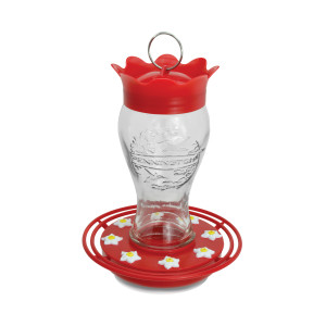 Pennington Hummingbird Feeder Glass Red 2ea/28 oz