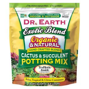 Dr. Earth Exotic Blend Cactus & Succulent Blend Premium Soil 4ea/8 qt