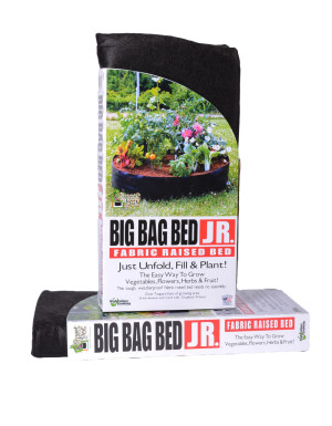 High Caliper Big Bag Raised Bed Black 1ea/Junior 36Inx12 in