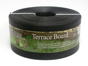 Master Mark Terrace Board Edging Black 1ea/4Inx40 in