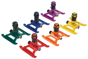 Dramm 4-Pattern Gear Sprinkler On Sled Base Assorted Colors 6ea