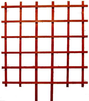 JJ Roberts Espalier Trellis Grower Without Labels Grid Red 6ea/3Ftx3 ft