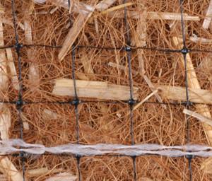 Excelsior Erosion Control Blanket Ntrl Coco/Straw Reg-Dbl Net Natural 1ea/7-1/2Ftx120 ft