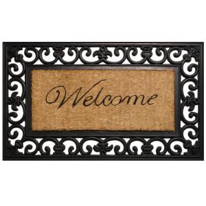 Robert Allen Mat Scroll Welcome Scroll Welcome 5ea/18Inx30 in