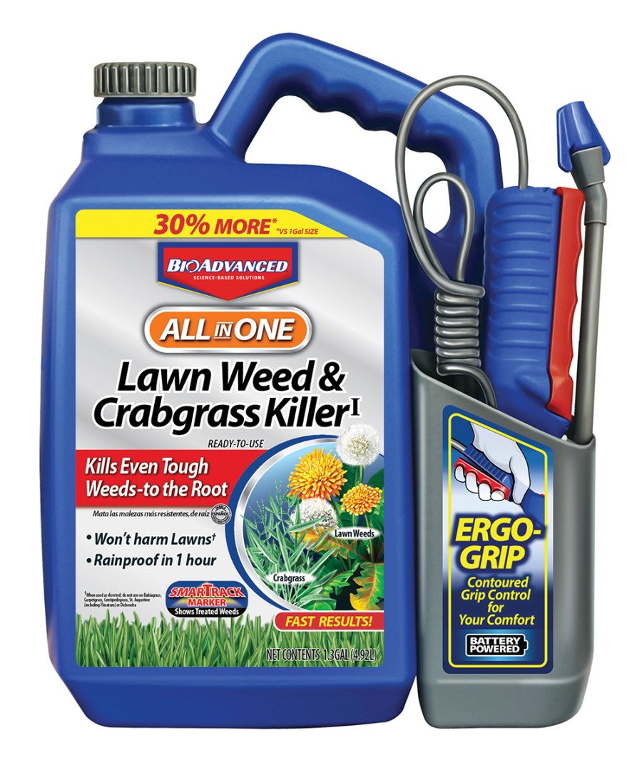 BioAdvanced All In One Lawn Weed & Crabgrass Killer Ready to Use 4ea/1.3 gal