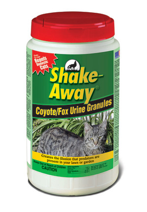 Shake-Away Coyote/Fox Urine Cat Repellent Granules Organic 6ea/5 lb