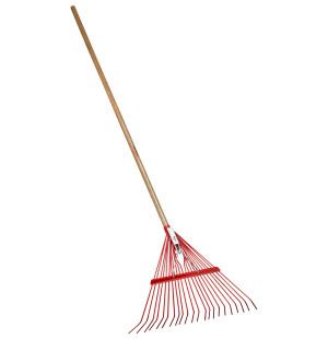 Corona Spring Brace Rake with Wood Handle 22in Fan Shaped Head 12ea/54 in