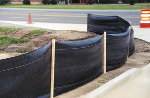 DeWitt Silt Fence with Stake Black 1ea/3Ftx100 ft