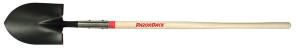 Ames Razor-Back Long Handle Round Point Shovel Closed Back Wood Handle Brown 1ea