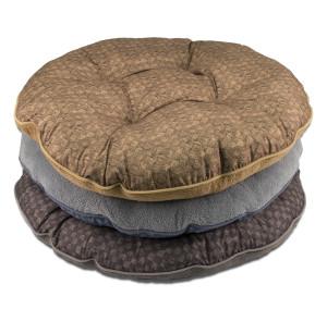 DMC Tufted Round Pet Bed Reverse Mocrotec & Basket Weave Print Display 10ea/15 in