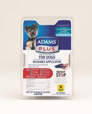 Adams Plus Flea & Tick Spot On Dog 3 Month with Applicator 1ea/Small