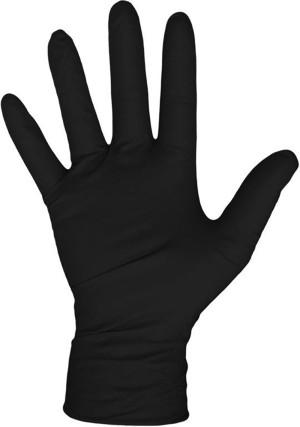 Boss Disposable 4Mil Glove 100 Per Box No Powder Nitrile Black 1ea/Large