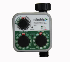 Raindrip Automatic Water Timer Analog 3 Dial Multi-Color 1ea