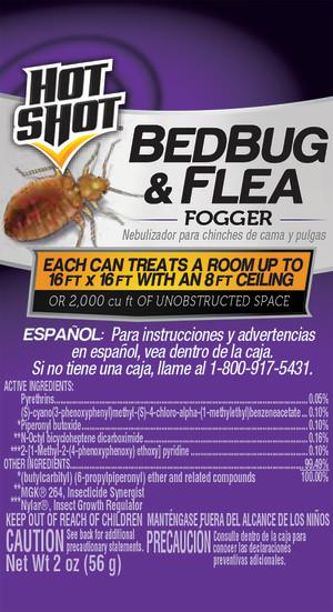 Hot Shot Bed Bug Indoor Fogger 6ea/4Pk 2 oz