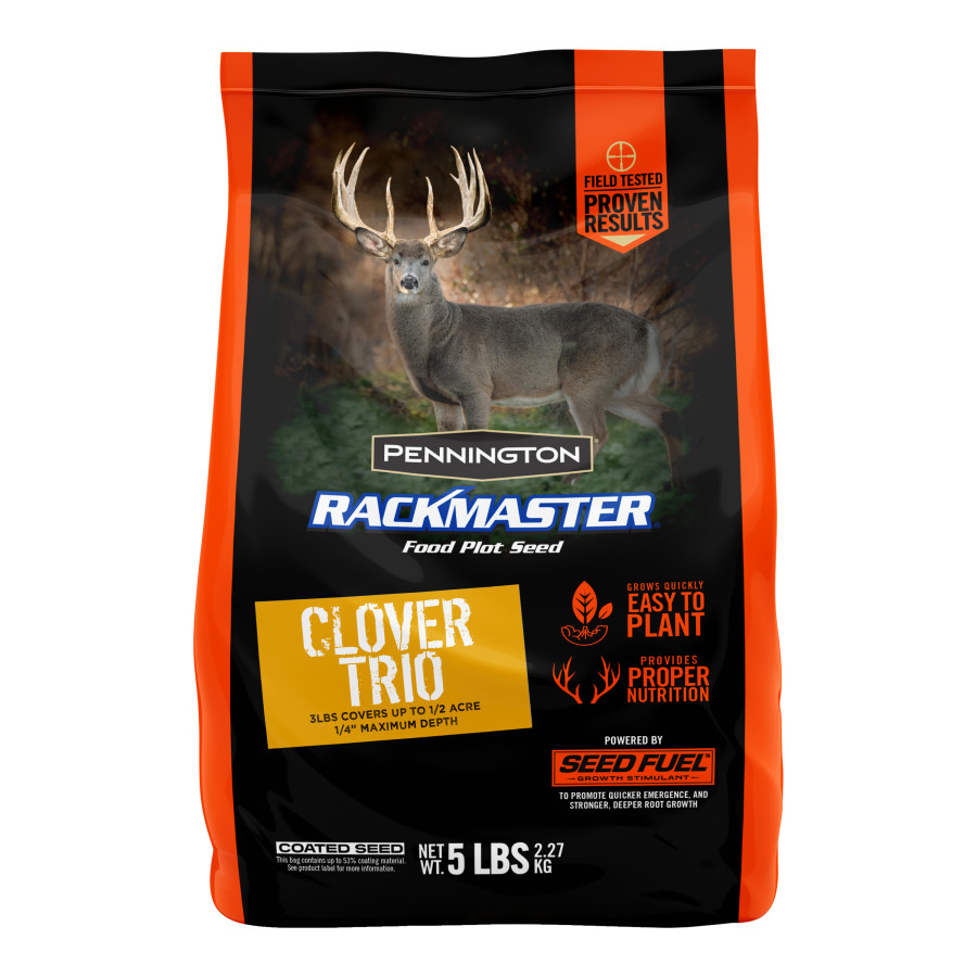 Pennington Rackmaster Clover Trio Mix Food Plot Seed 6ea/5 lb