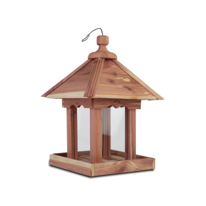 Pennington Cedar Junior Pavilion Bird Feeder (Canada) Junior Pavilion (Canada) Red, Brown 2ea/9.5 X 9.5 X 13.5 in