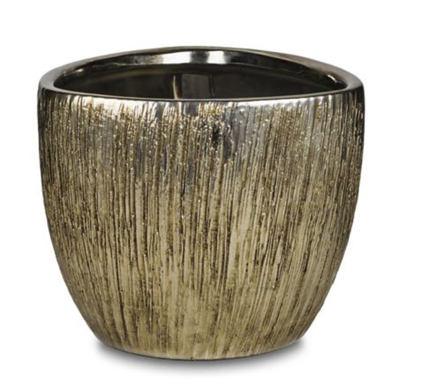 Pennington Plated Triangle Pot Silver 4ea/6 in