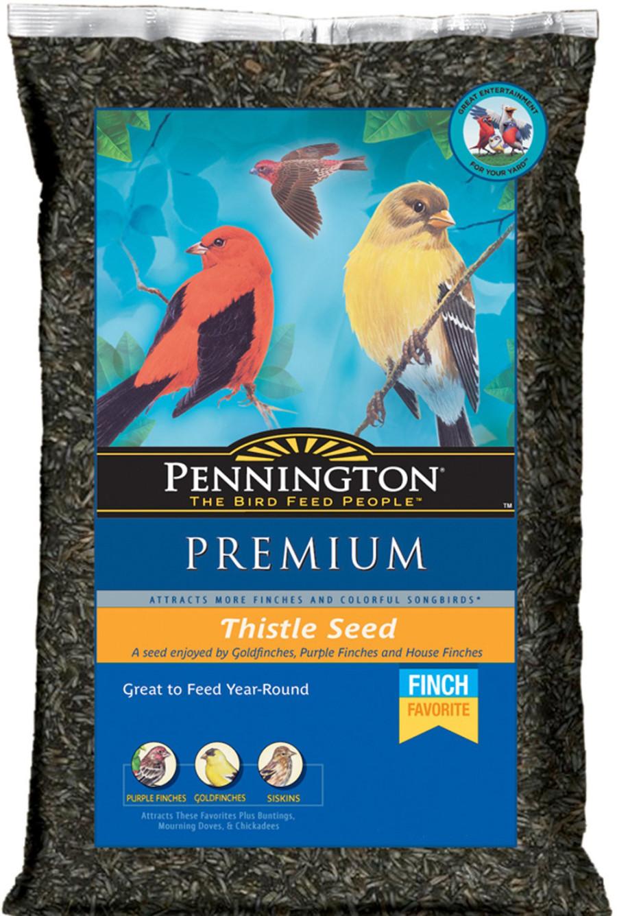 Pennington Premium Thistle Seed Bird Food 12ea/5 lb