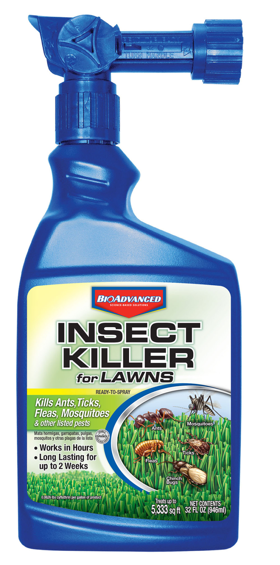 BioAdvanced Insect Killer for Lawns Ready to Spray 4ea/32 oz
