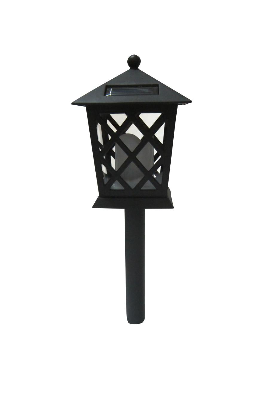 Alpine Solar Lantern LED Pathway Light Black 9ea/One Size