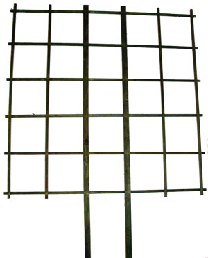 JJ Roberts Garden Espalier Trellis Without Labels Grid Black 6ea/5Ftx5 ft