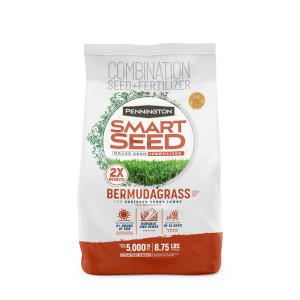 Pennington Smart Seed Bermudagrass Mix with 2x faster results 4ea/8.75 lb