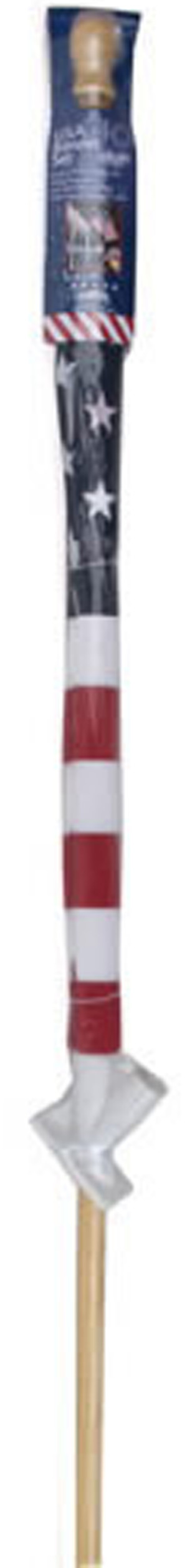 Flag Zone Poly Cotton United States Banner with 1 Piece Wood Pole 12ea/Flag: 2-1/2Ftx4Ft Pole:5 ft