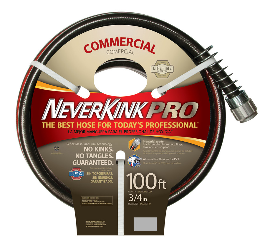 Teknor Neverkink Pro Commercial Duty Hose Black 3ea/3/4Inx100 ft