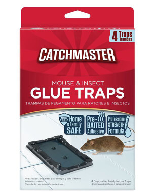 Catchmaster Mouse & Insect Glue Traps Pre-Baited 12ea/4 pk
