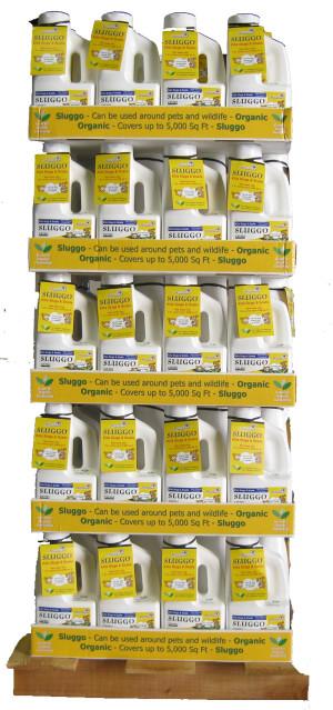 Monterey Sluggo® Slug & Snail Killer Bait Organic Quarter Pallet 80ea/2.5 lb