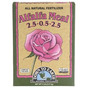 Down To Earth Alfalfa Meal Natural Fertilizer 2.5-.05-2.5 OMRI 6ea/5 lb