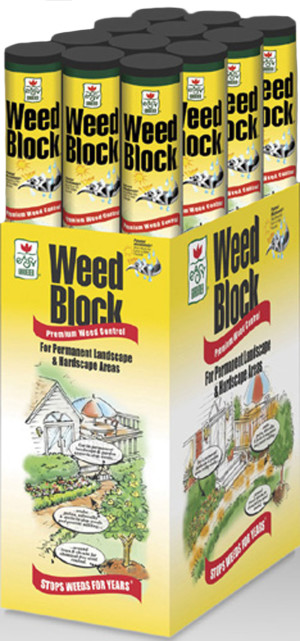 Easy Gardener WeedBlock Weed Control Fabric Black 20ea/3Ftx50 ft