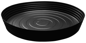 Curtis Wagner Plastics Deep Plant Saucer Vinyl Black 25ea/25 in